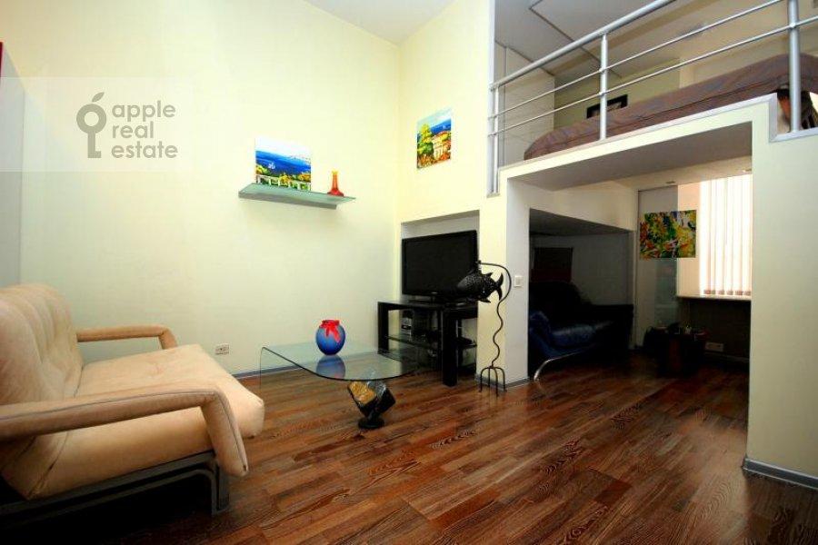 Гостиная в 1-комнатной квартире по адресу Гнездниковский Большой пер. 10