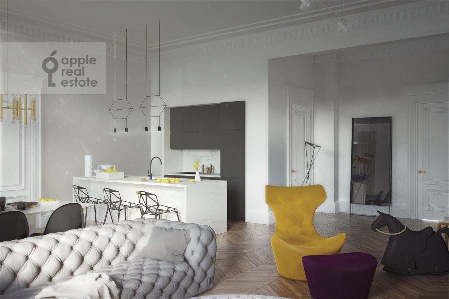 3-room apartment at Khlebnyy pereulok 19