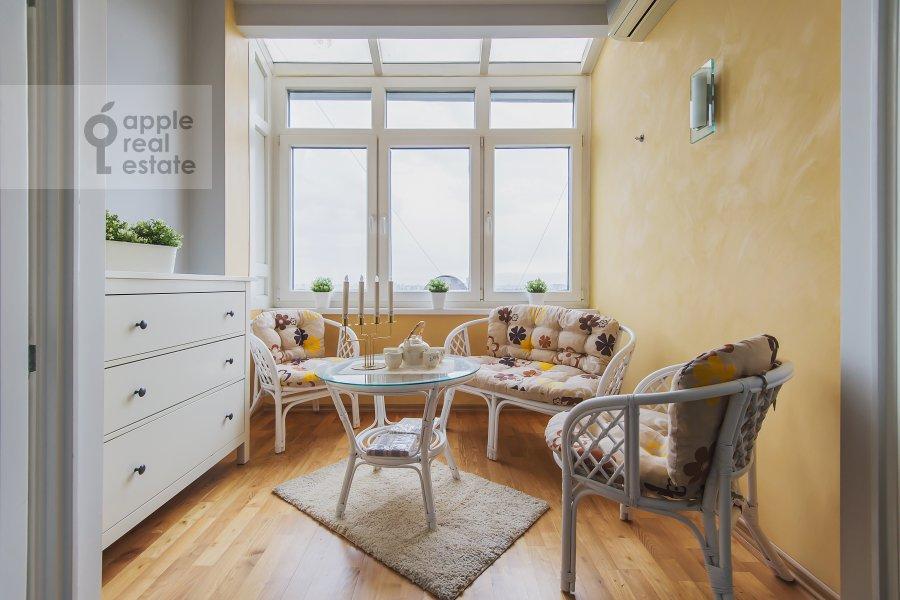 Balcony / Terrace / Loggia of the 2-room apartment at Leningradskoe shosse 52B
