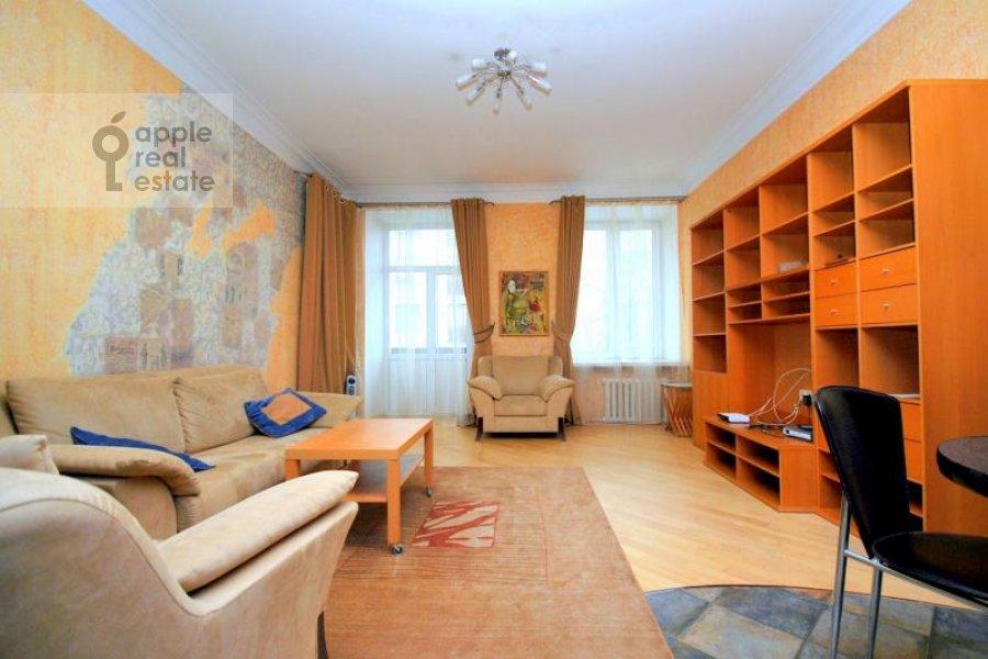 Living room of the 2-room apartment at Kozitskiy per. 1A