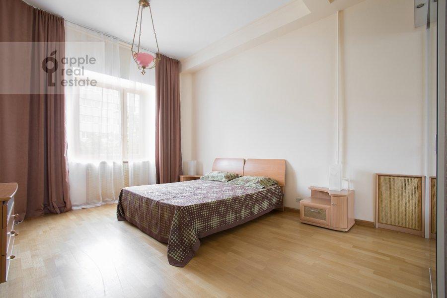 Bedroom of the 3-room apartment at Predtechenskiy Bol'shoy per. 14