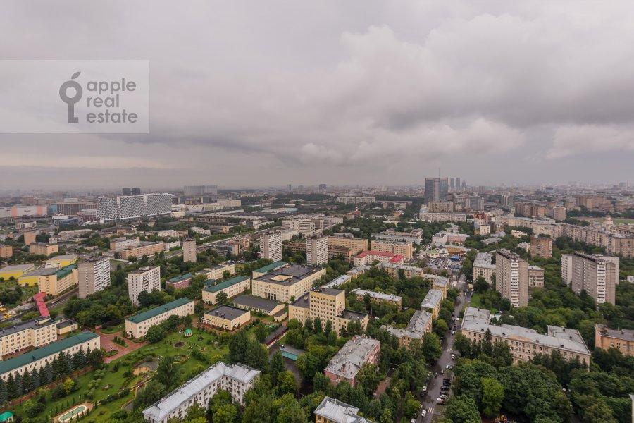 View from the window of the 4-room apartment at Khoroshevskoe shosse 16k1