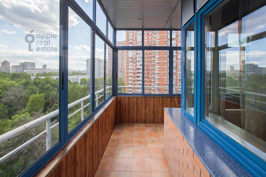 Balcony / Terrace / Loggia of the 2-room apartment at Udal'tsova ul. 23
