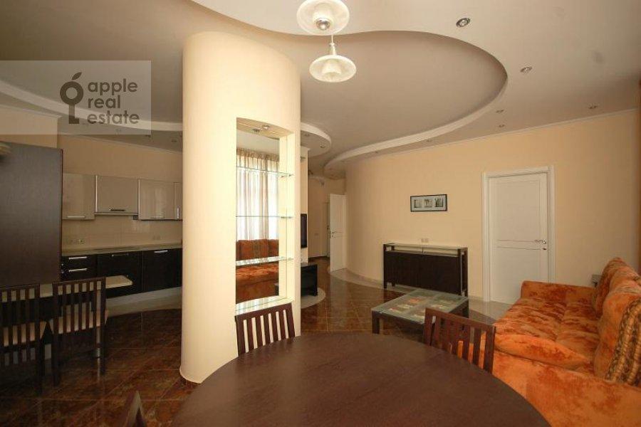 Гостиная в 3-комнатной квартире по адресу Маршала Соколовского ул. 5