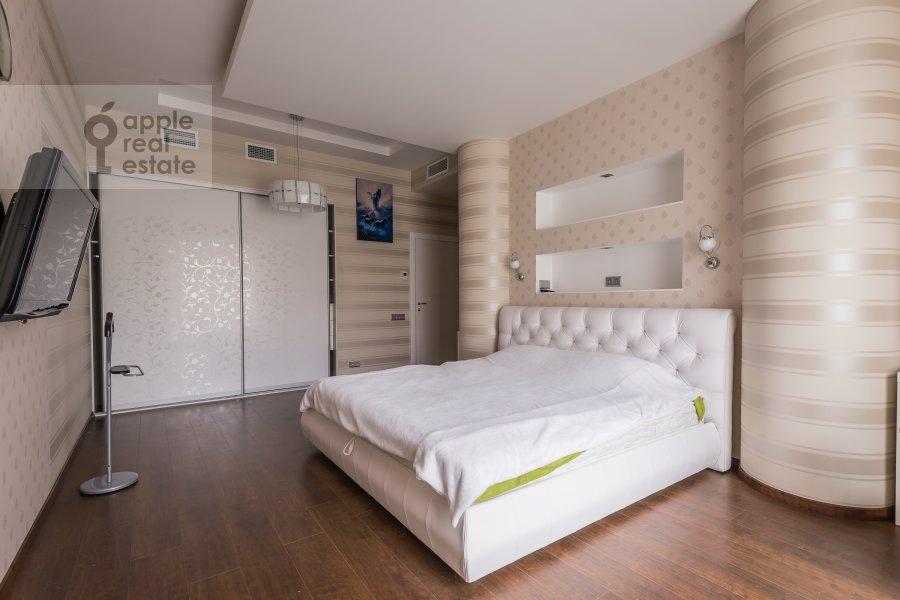 Bedroom of the 3-room apartment at Bol'shaya Gruzinskaya ul. 69