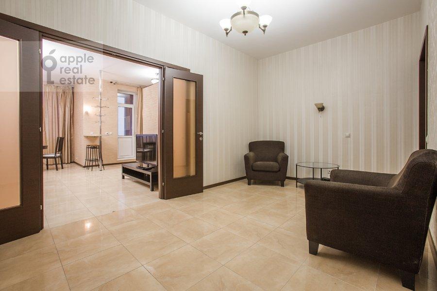 Living room of the 4-room apartment at Nakhimovskiy prosp. 56