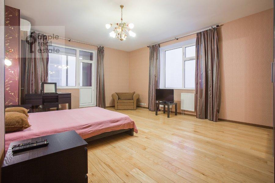 Bedroom of the 4-room apartment at Nakhimovskiy prosp. 56