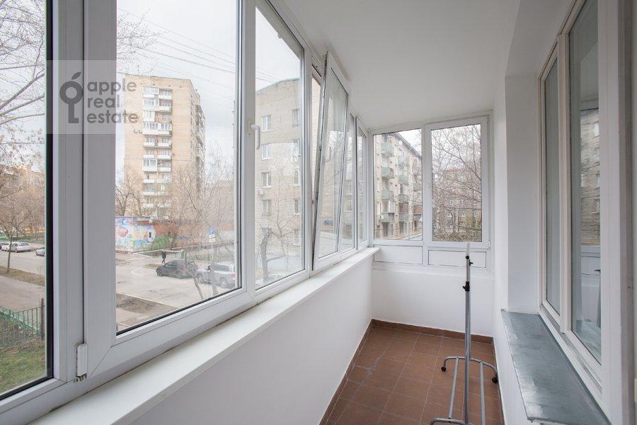 Balcony / Terrace / Loggia of the 3-room apartment at Novolesnoy per. 5