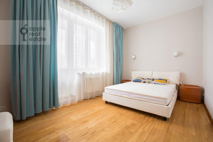 Bedroom of the 3-room apartment at Novolesnoy per. 5