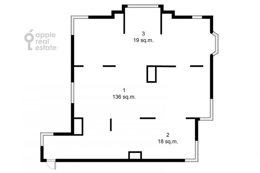 Поэтажный план 5-комнатной квартиры по адресу Авиационная улица 79к1