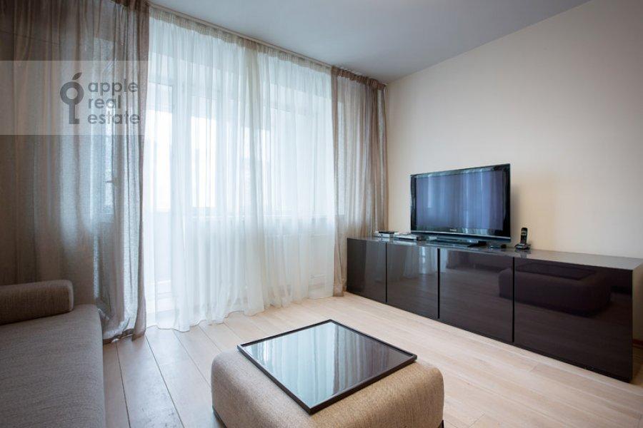 Living room of the 2-room apartment at Polyanka Malaya ul. 8
