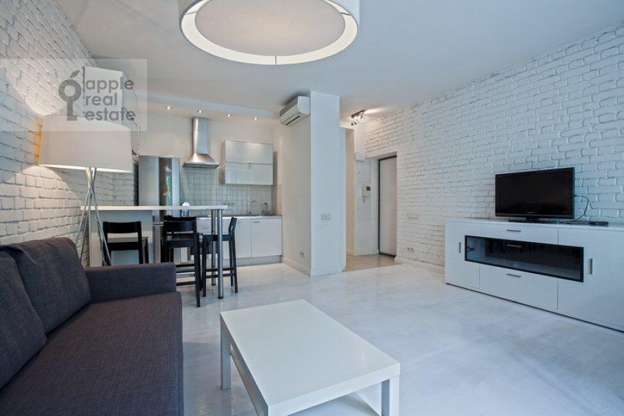 Living room of the 2-room apartment at B. Patriarshiy per. 8