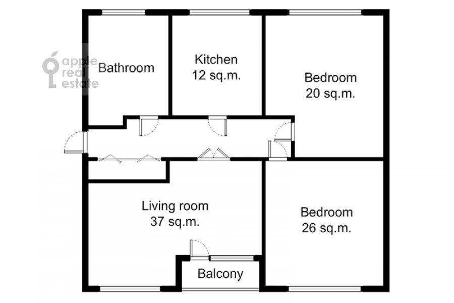 Поэтажный план 3-комнатной квартиры по адресу Златоустинский Большой пер. 3Ас2