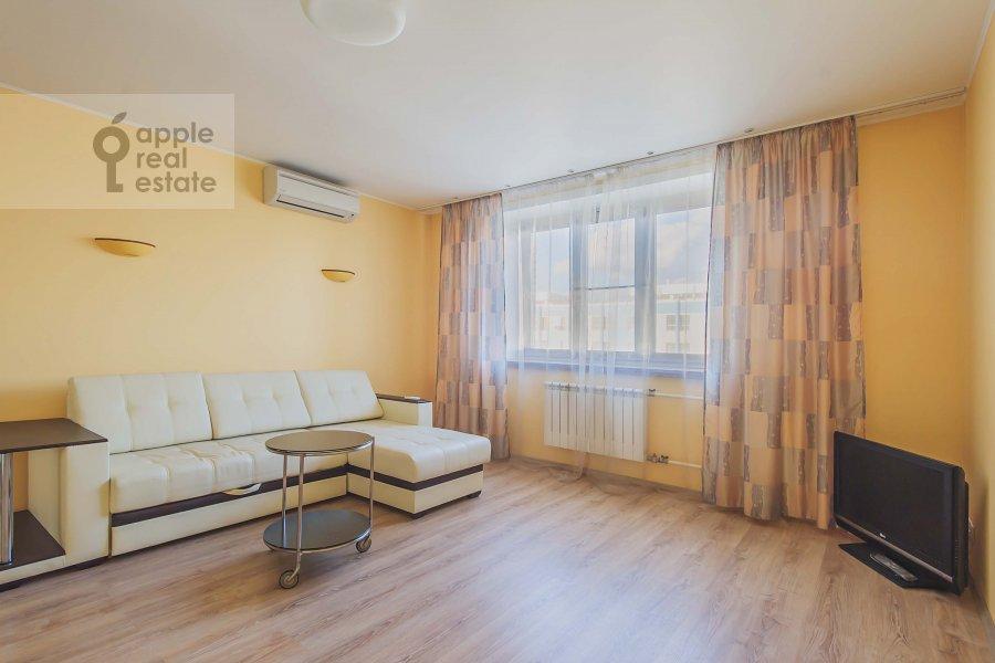 Living room of the 1-room apartment at Velozavodskaya ul. 2k3