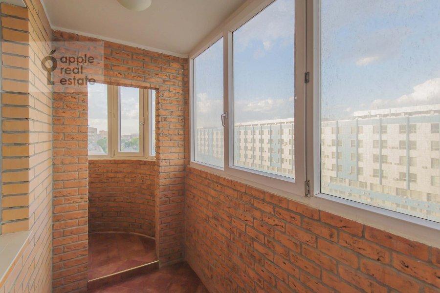 Balcony / Terrace / Loggia of the 1-room apartment at Velozavodskaya ul. 2k3