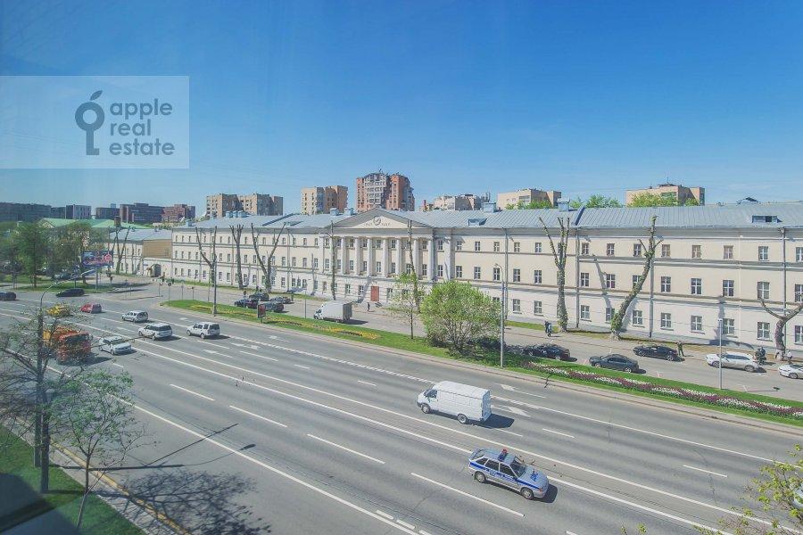 Вид из окна в 3-комнатной квартире по адресу Комсомольский проспект 19