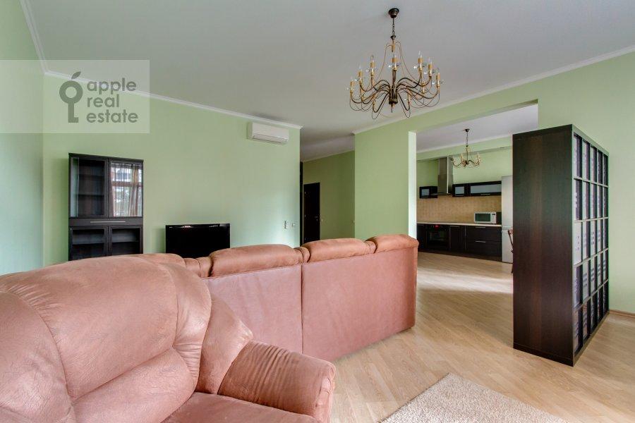 Гостиная в 3-комнатной квартире по адресу Ленинский  пр-т. 96