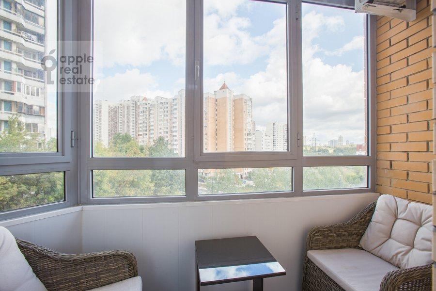 Balcony / Terrace / Loggia of the studio apartment at Ramenki ul. 20