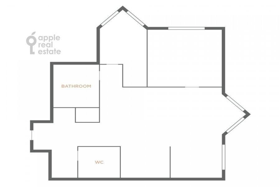 Поэтажный план 3-комнатной квартиры по адресу Зоологическая ул. 22