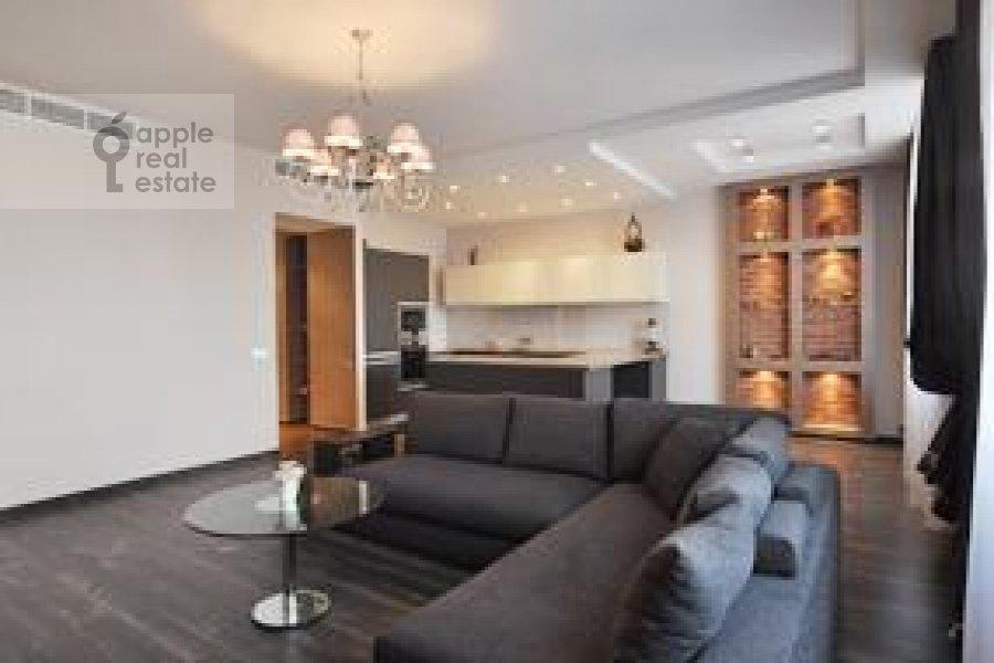 Гостиная в 2-комнатной квартире по адресу Ружейный пер. 3